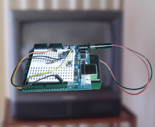 TV-B-Gone running on an Arduinio