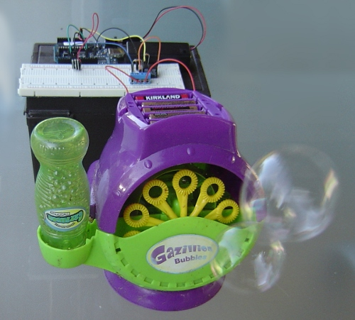 Arduino blowing bubbles