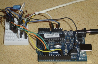 The Arduino circuitry.